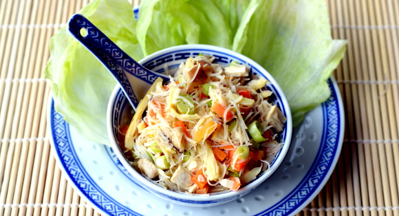 PlantPlate Recipes - Tofu and Vermicelli San Choy Bow